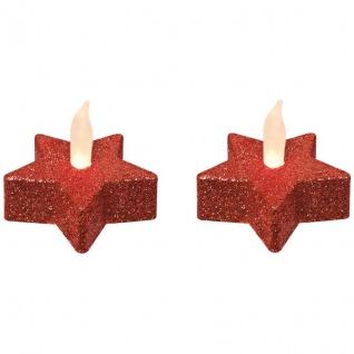 Best Season LED-Teelichter 1 warmweiße LED rot batteriebetrieben