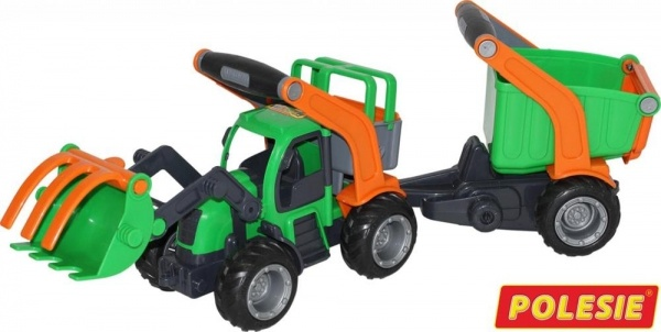 Wader GripTruck Traktor mit 1-Achsanhänger