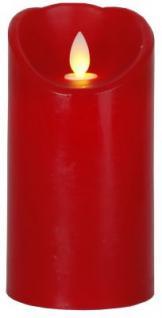 STAR Trading LED-Wachskerze Glim rot 15cm innen Box