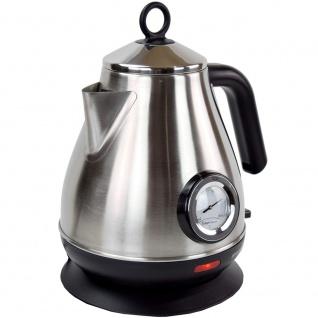 Syntrox 1, 8 Liter Edelstahl schnurlos Wasserkocher mit Thermometer 360° cordess Wasse