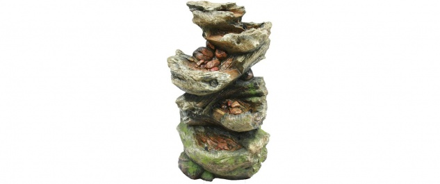 Ubbing Norfolk - Wasserspiel Felsstruktur mit LED