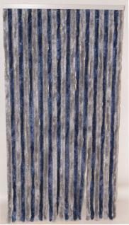 Türvorhang Flauschvorhang silber / blau (100 x 200 cm kürzbar)