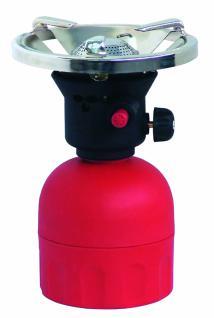 Gas Kartuschenkocher mit Piezozündung 1, 3 kw + 1 x Gas Kartusche (190 gr.)