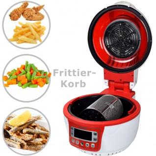 """Syntrox Turbo-Heißluftfritteuse Heißluftgarer Airfryer Küchenmaschine mit LED-Display """" rot"""" - Vorschau 5"""