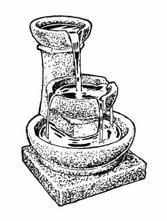 Ubbink BRANSON - 3-Etagen-Brunnen mit eigenem Wasserreservoir in Steinoptik - Vorschau 3