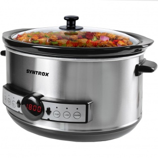 Syntrox Germany Digitaler Slow Cooker 4, 5 Liter mit Timer