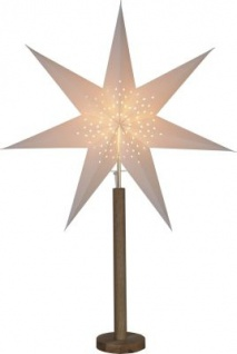 STAR Trading Papierstern ''Elice'' 60cm creme/eiche innen