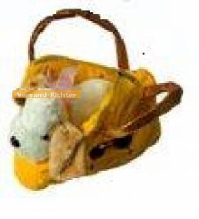 Handtasche Plüschtasche Hund, Hundetasche, gelb - Vorschau 1