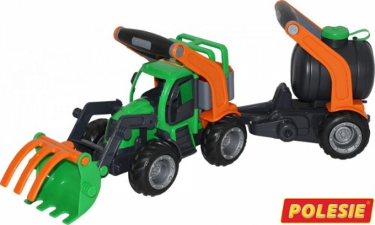 Wader GripTruck Traktor mit Fassanhänger