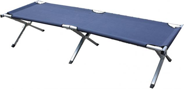 Feldbett Campingbett in blau 190 x 64 cm
