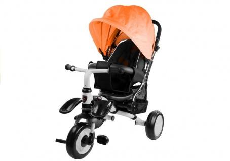 Dreirad PRO400 Orange Liegefunktion Lenkstange Schaumstoffräder Kinderdreirad