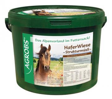 Agrobs HaferWiese Strukturmüsli, 5 kg, Strukturreiches Müsli mit Schwarz- und Gelbhafer