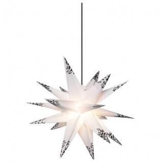 Weihnachtsstern weiß schwarze Verzierungen Ø 50cm