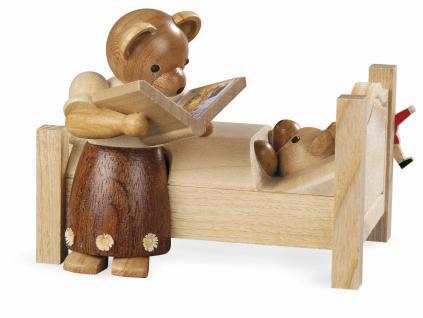 Müller-Kleinkunst aus dem Erzgebirge® seit 1899 Bärenmutter erzählt Gute-Nacht-Geschichten