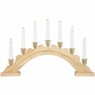 Weihnachtsleuchter, Schwibbogen, Leuchtständer, 7 x E10/34V/3W