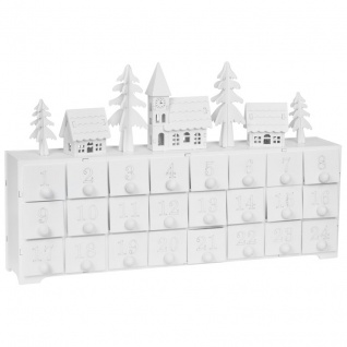 Adventskalender, 4 ww LEDs, YULETIDE