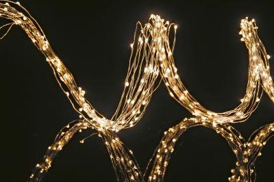 LED-Kupferkabel-Girlande 200cm 384 BS ww/kupfer
