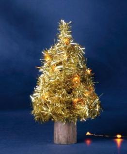 Hellum LED-Baum 20cm 20 BS gelb/gold innen batteriebetrieben