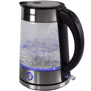 Syntrox 1, 7 Liter Edelstahl schnurlos Glas Wasserkocher Rio mit blauem LED Licht 360° - Vorschau 3