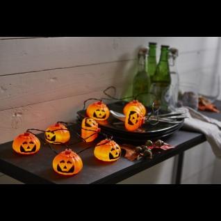 LED-Lichterkette Halloween/Kürbisse weiß/schwarz - Vorschau 2