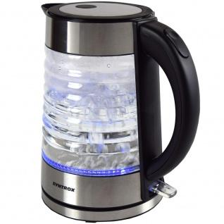 Syntrox 1, 7 Liter Edelstahl schnurlos Glas Wasserkocher Agua mit blauem LED Licht 360 - Vorschau 3