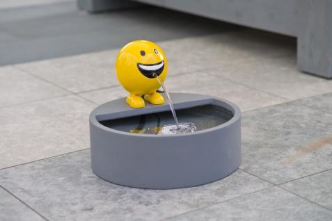 Ubbink Wasserspiel BE HAPPY - Polystone, H19 x Ø16 cm, gelb - Vorschau 2