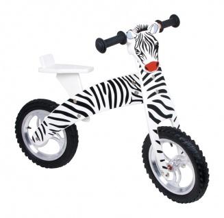 Laufrad aus Holz, Holzlaufrad, Zebra