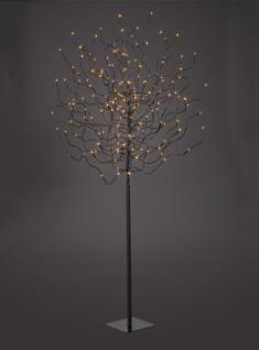 Hellum LED-Baum braun 120cm warmweiss aussen