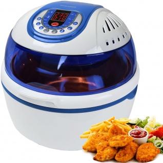 """Syntrox Turbo-Heißluftfritteuse Heißluftgarer Airfryer Küchenmaschine mit LED-Display """" blau"""""""
