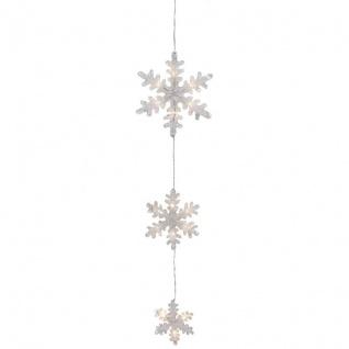 Konst Smide LED Schneeflocken mit 15 warmweißen LEDs batteriebetrieben