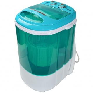 Syntrox 3, 8 Kg Waschmaschine mit Schleuder und Timer 200 W blau