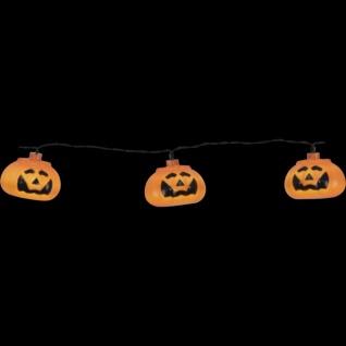 LED-Lichterkette Halloween/Kürbisse weiß/schwarz