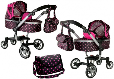 Puppenwagen Alice Kinderwagen Puppe Wagen Rosa