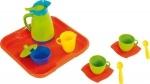 Wader Kaffeeservice für 2 Kinder auf Tablett