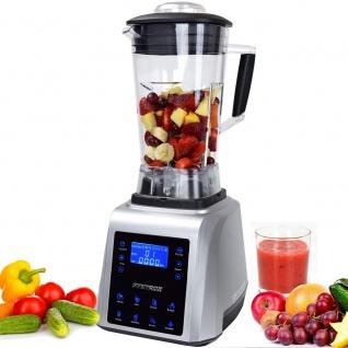 Syntrox Küchenmixer Standmixer Digital, BPA-FREI, 1800 Watt, 40000 U/Min, 2 Liter, 6 Edelstahlklingen - 7 Programme - LCD-Display - Zerkleinerer - Icecrusher - Getreidemühle - Vorschau 1