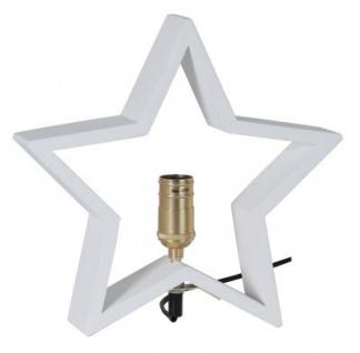 STAR Trading Holzstern ''LYSeKIL'' 30cm weiß innen