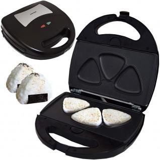 Syntrox Germany Onigiri Maker dreieckige japanische Grill Reisbälle Chefmaker SM-1300W Rice herausnehmbare Backplatten