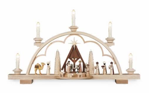 Müller-Kleinkunst aus dem Erzgebirge® seit 1899 Schwibbogen Christi Geburt mit Krippe