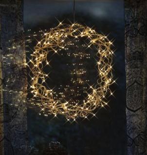 STAR Trading LED-Kranz Curly 50cm ww/transparent innen