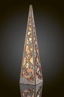LED-Holzpyramide 57cm 10 BS weiß gebeizt/warmweiß