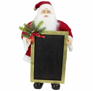Weihnachtsmann Santaclaus Nikolaus Wotan mit Tafel, 60 cm