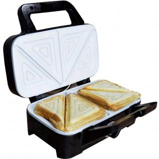 Syntrox Chef Maker 3 in 1 Sandwichmaker Waffelmaker Kontaktgrill mit Keramikbeschicht - Vorschau 3