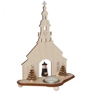 Teelichthalter, Seiffener Kirche Holz - Vorschau 1