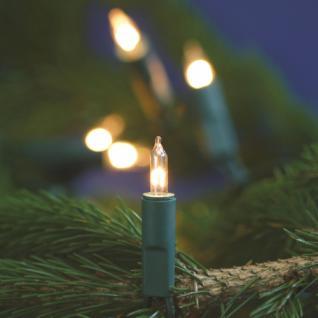 Mini-Lichterkette, 10-fl., klar/grün,