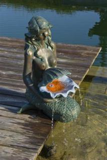 Oslo, Meerjungfrau mit Schale, Polyresin, 34 x 46 x 78 cm, 1 x 8 LED