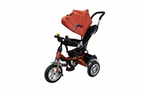 Miweba Kinderdreirad, Kinderbuggy, Kinderwagen, Schieber 7 in 1 braun
