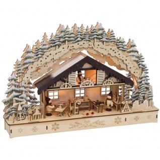 Weihnachtsleuchter Werkstatt, 10 warmweiße LEDs