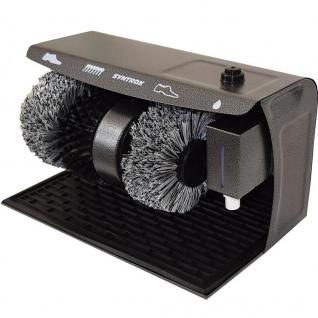 Syntrox Germany Schuhputzmaschine Schuhputzautomat mit Gummimatte und 3 Bürsten SPG-120W Shiny