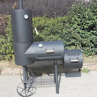 Syntrox Smoker Doppel Barbecue Grill mit Räucherofen Holzkohlegrill