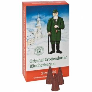 Original Crottendorfer Räucherkerzen, 24 Stück, Zimtapfel